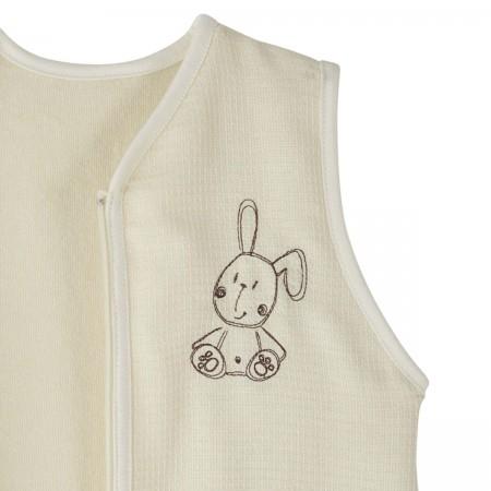 Śpiworek dla niemowlaka lekki bez rękawów 65cm Królik, Doux Nid