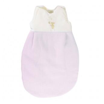 Bawełniany śpiworek do spania dla niemowlaka 60cm Królik różowy, Poyet