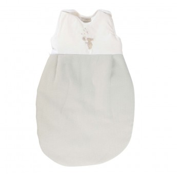 Bawełniany śpiworek do spania dla niemowlaka 60cm Królik ecru, Poyet