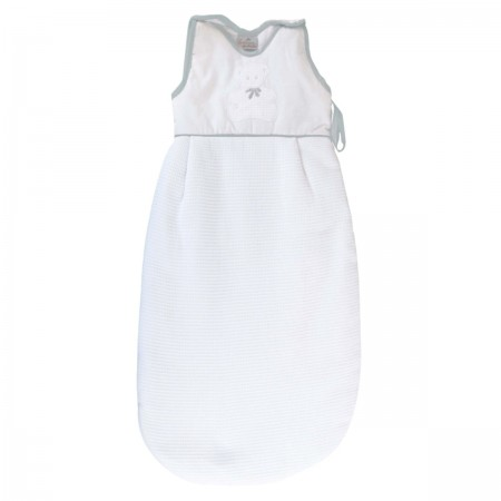 Bawełniany śpiworek do spania dla niemowlaka 85cm Miś szary, Poyet