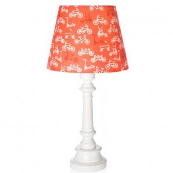 Lampa stojąca dla dziecka Rowerki Czerwone stożek, Lamps & Co.