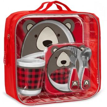 Skip Hop zestaw obiadowy dla dzieci Zoo Winter Niedźwiadek