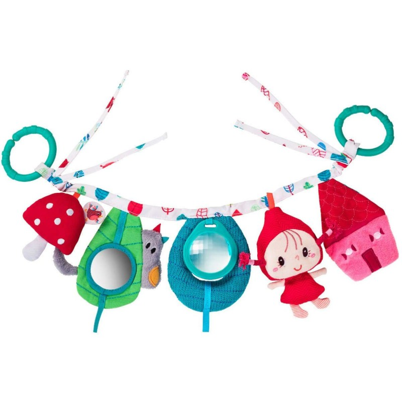 Lilliputiens Czerwony Kapturek łańcuszek do wózka dla niemowląt