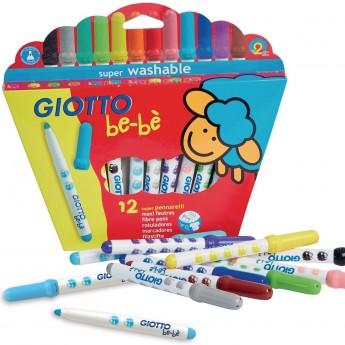 Giotto Bebe 10 pisaków dla 2 latków, grube i zaokrąglone