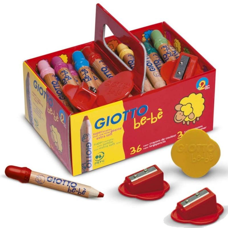 Giotto Bebe 36 kredek dla 2 latków, grube i wytrzymałe