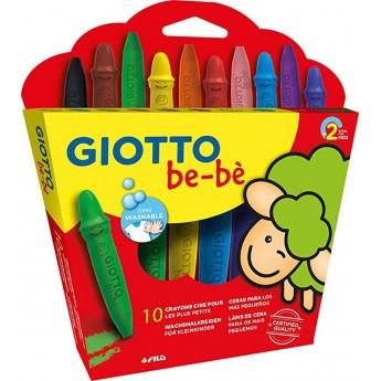 Giotto Bebe 10 kredek woskowych z temperówką dla 2 latków