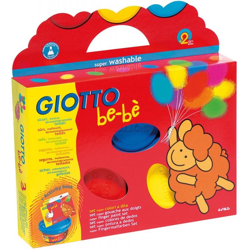Giotto Bebe farby do malowania palcami 3 słoiki