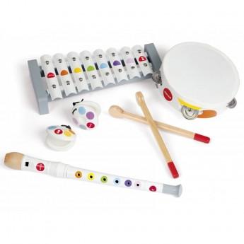 Janod Zestaw 4 instrumentów drewnianych Confetti +18mc