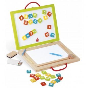Janod Magnetyczna walizeczka tablica 4w1 zabawka +3lat