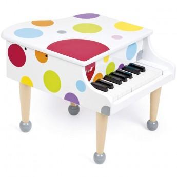 Janod Mini fortepian 1,5 oktawy Confetti dla dzieci od 3 lat