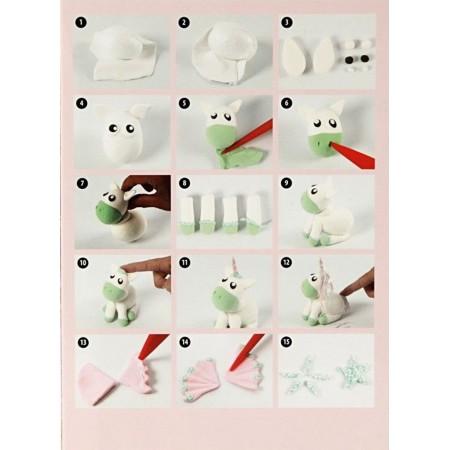 Zielony Jednorożec z Silk i Foam Clay od 3 lat, Creativ Company