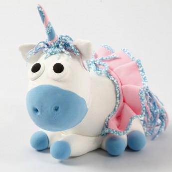 Niebieski Jednorożec z Silk i Foam Clay od 3 lat, Creativ Company