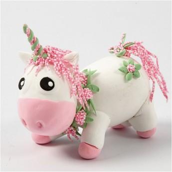 Różowy jednorożec z Silk i Foam Clay od 3 lat, Creativ Company