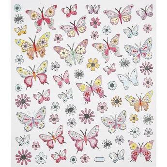 Motylki metaliczne naklejki ozdobne do zeszytów i scrapbookingu, Creativ Company