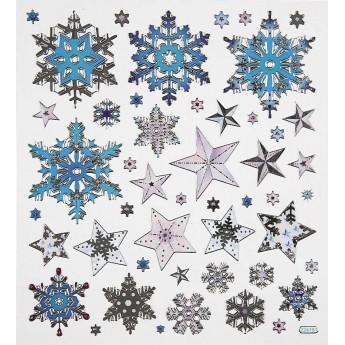 Śnieżynki i Gwiazdki naklejki ozdobne do zeszytów i scrapbookingu, Creativ Company