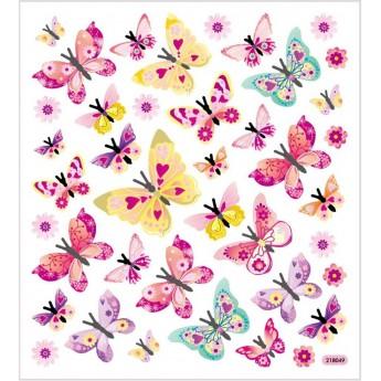 Motylki ozdobne naklejki ze srebrnymi szczegółami, Creativ Company