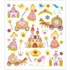 Księżniczki ozdobne naklejki ze złotymi szczegółami i brokatem, Creativ Company
