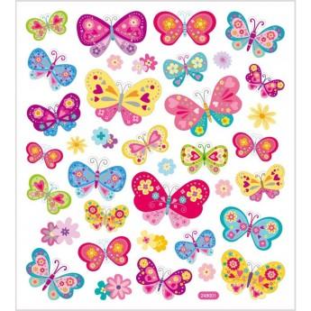 Motylki ozdobne naklejki kolorowe do ozdoby zeszytów, Creativ Company