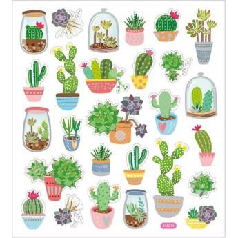 Kaktusy naklejki ozdobne do zeszytów i scrapbookingu, Creativ Company
