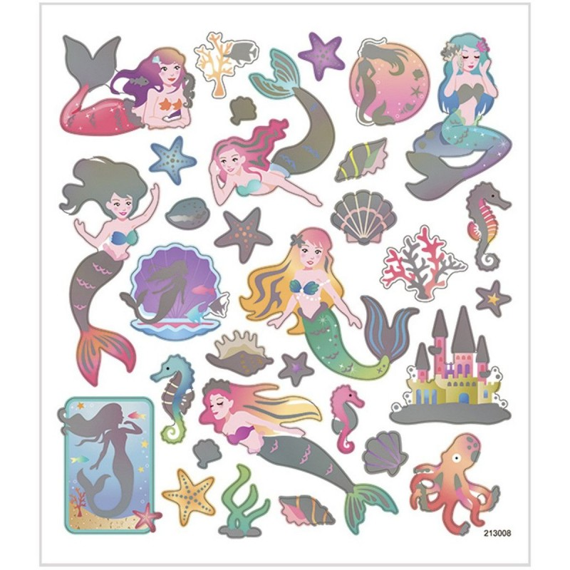 Syrenki ozdobne naklejki w pastelowych kolorach, Creativ Company