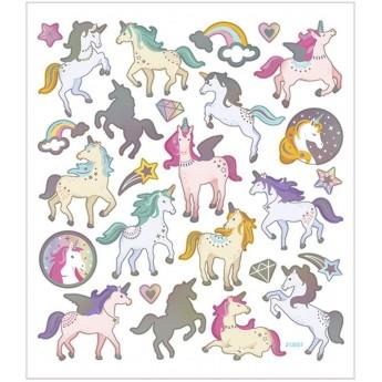 Jednorożce ozdobne naklejki w pastelowych kolorach, Creativ Company