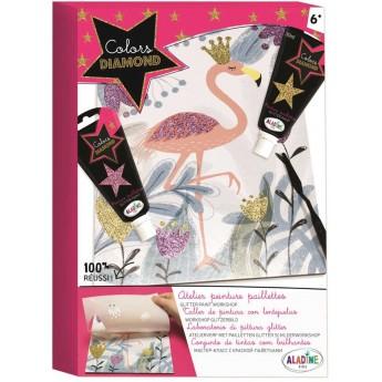 Obrazek do malowania Farbą Brokatową Flaming +6, Aladine