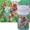 Puzzle kartonowe 50 elementów Garden Party, Crocodile Creek