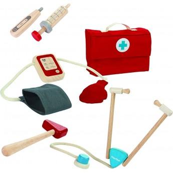 Zestaw lekarza z 5 akcesoriami, Plan Toys