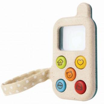 Mój pierwszy telefon drewniany z lupą +12m, Plan Toys