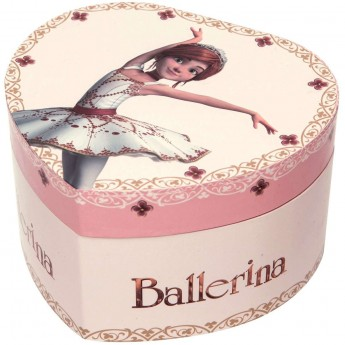 Szkatułka z pozytywką Ballerina© świecąca w kształcie serca, Trousselier