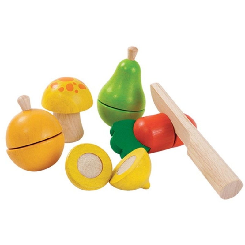 Warzywa i owoce drewniane do zabawy, Plan Toys