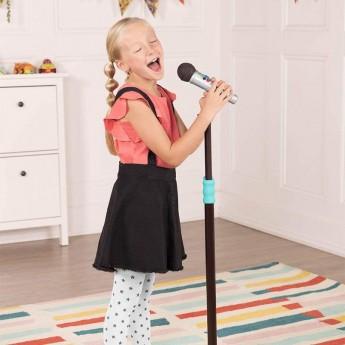 Stojący mikrofon karaoke Mic It Shine zabawka dla dzieci, B.Toys