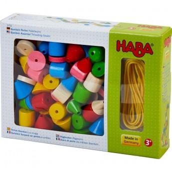 Klocki do nawlekania Bambini 72 elementów, Haba