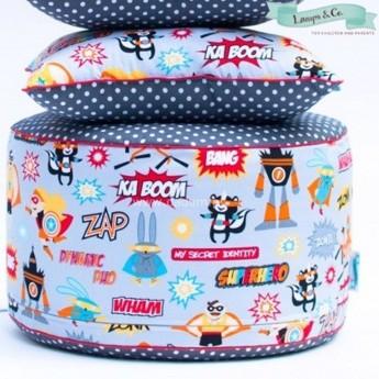 Pufa Superbohaterowie do pokoju dziecięcego, Lamps & Co. | Dadum
