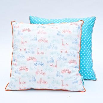 Poduszka dla dzieci Rowerki pastelowe, Lamps & Co.