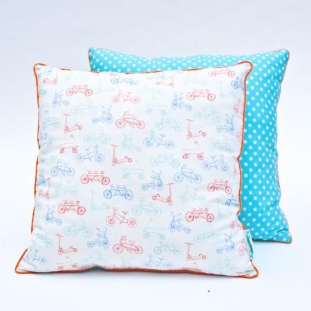 Poduszka dla dzieci Rowerki pastelowe, Lamps & Co. | Dadum