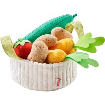 Haba Warzywa pluszowe w koszyku 5 sztuk do zabawy +3