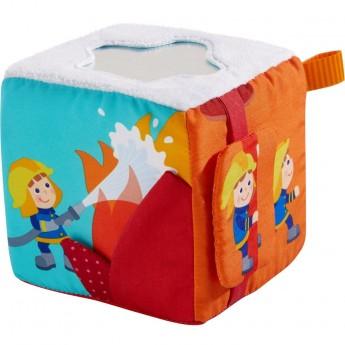 Kostka edukacyjna dla niemowląt Strażacy, Haba