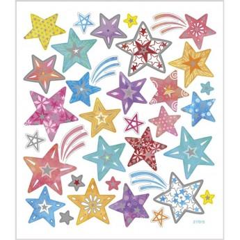 Gwiazdki ozdobne naklejki metaliczne dla dzieci +3, Creativ Company