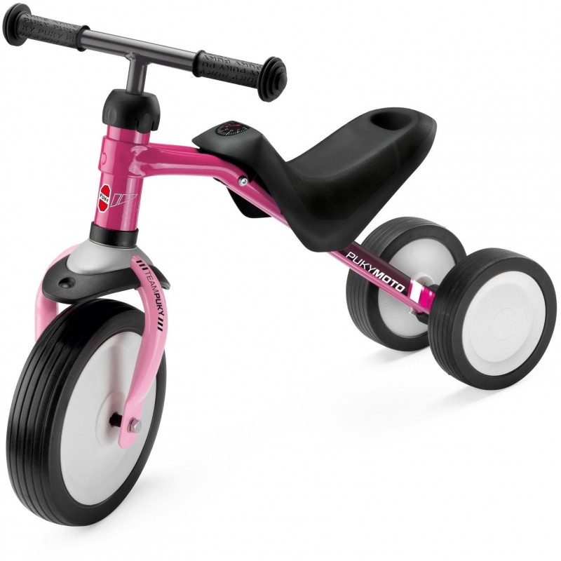 Jeździk PUKYmoto różowy Berry metalowy dla dzieci +18mc