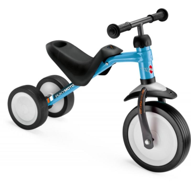 Jeździk PUKYmoto niebieski metalowy dla dzieci +18mc