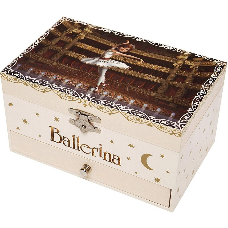 Szkatułka z pozytywką Ballerina© świecąca w ciemnościach, Trousselier