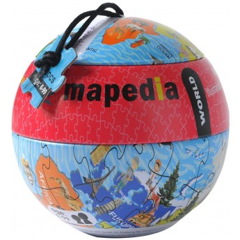 Puzzle kartonowe Mapa Świata 100 elementów, The Purple Cow