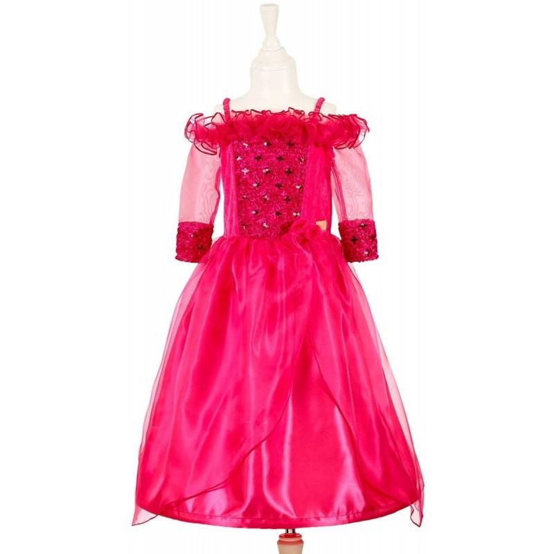 Sukienka balowa Valentine fuksja z długimi rękawami 5-7 lata, Souza!