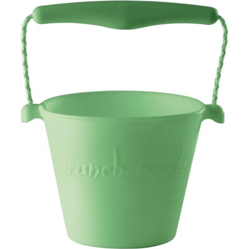 Jasnozielone wiaderko do piasku dla dzieci silikonowe Scrunch-Bucket