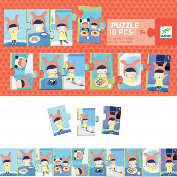 Djeco Puzzle kartonowe 10 elementów Mój Dzień od 3 lat