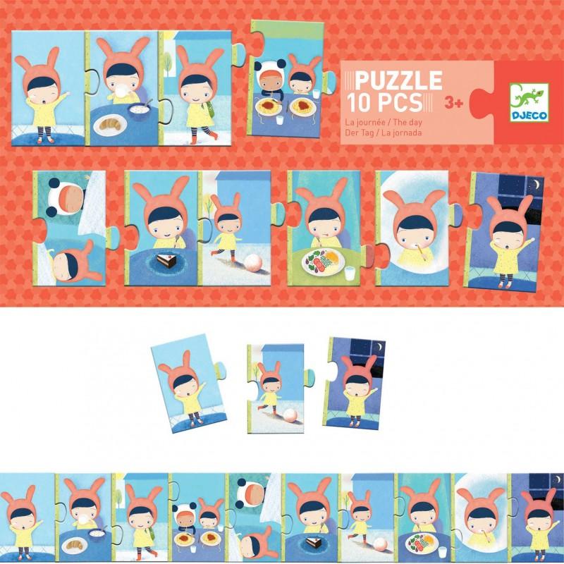 Djeco puzzle 10 elementowe Dzień