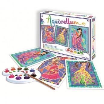 Glamour Girls 3 obrazy do malowania i farby Aquarellum, SentoSphere