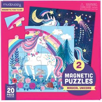 Mudpuppy 2 puzzle magnetyczne 20 elem. Magiczne Jednorożce