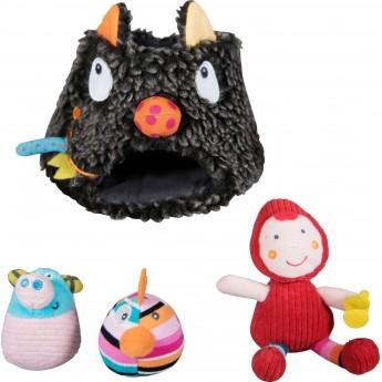 W Paszczy Wilka zabawka edukacyjna dla niemowląt od 3 mc, Ebulobo